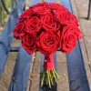 Red rose bridal bouquet - flowers for weddings