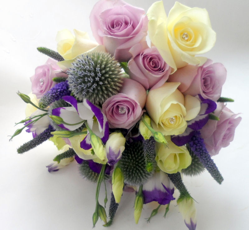 Ocean Song And Thistle Bouquet