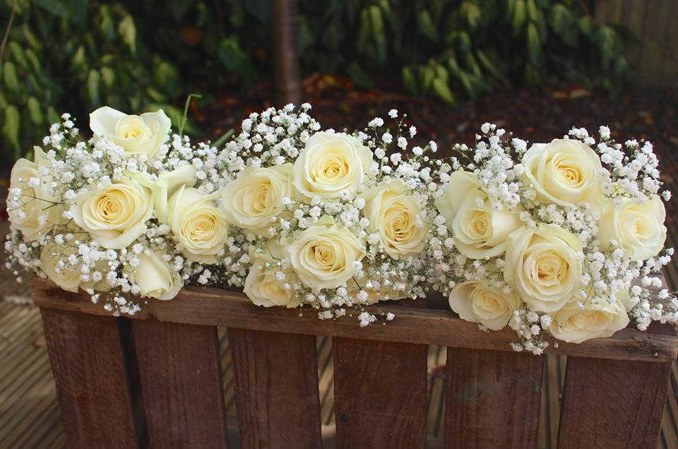 Bridesmaid Rose and Gypsophila Bouquet